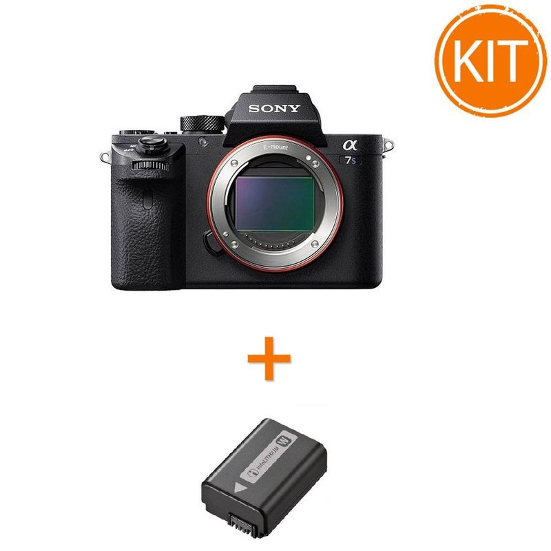 Kit-Sony-A7S-MK-2-Body---Sony-NP-FW50---Sigma-MC-11