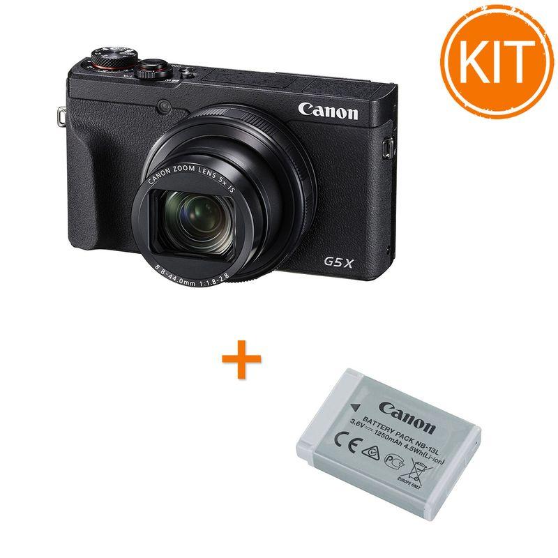Kit-Canon-Powershot-G5X-Mark-II---Acumulator-Canon-NB-13L