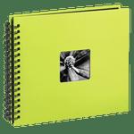Hama-Fine-Art-Album-Foto-cu-Spirala-50-Pagini-Negre-28-x-24cm--Green-Kiwi