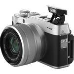 Fujifilm-X-A7-Aparat-Foto-Mirrorless-Kit-cu-Obiectiv-XF-15-45mm-Argintiu