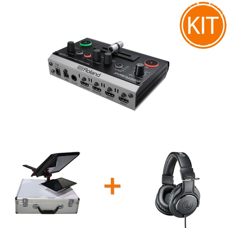Kit-Live-Multicam-cu-Switcher-Video-2-Canale---Teleprompter---Casti-Monitorizare