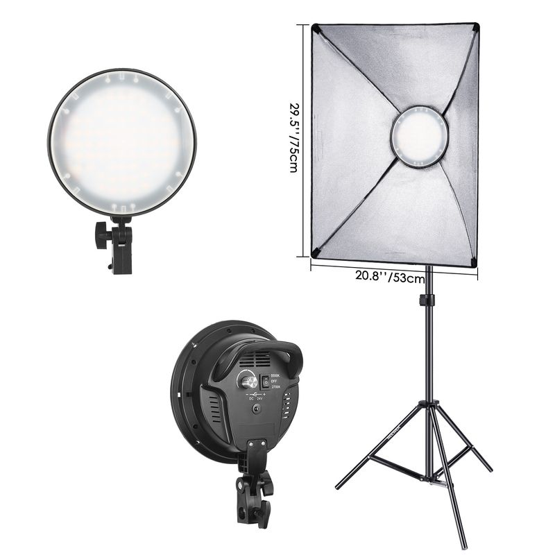 Fancier-LED-SLH4A--Kit-2-Lampi-LED-Bicolore-2700K-5500K---2-Softboxuri---2-Stative.2