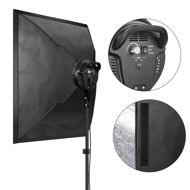 Fancier-LED-SLH4A--Kit-2-Lampi-LED-Bicolore-2700K-5500K---2-Softboxuri---2-Stative.4