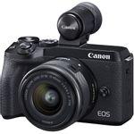 Canon EOS M6 MK II Aparat Foto Mirrorless 32.5MP 4K Kit cu Obiectiv EF-M 15-45mm f/3.5-6.3 IS si EVF-DC2