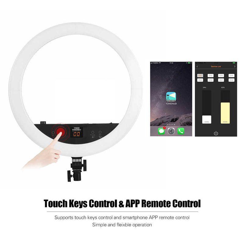 Yongnuo-Yn808-22-Inch-48w-3200k-5500k-Dual-Led-Display-Video-Ring-Light-Studio-Photography-Lamp