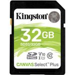 Kingston Canvas Select Plus Card SDHC 32GB Class 10