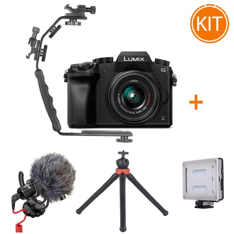 Kit-Vlogging-Panasonic-Lumix-DMC-G7---14-42mm-f3.5-5