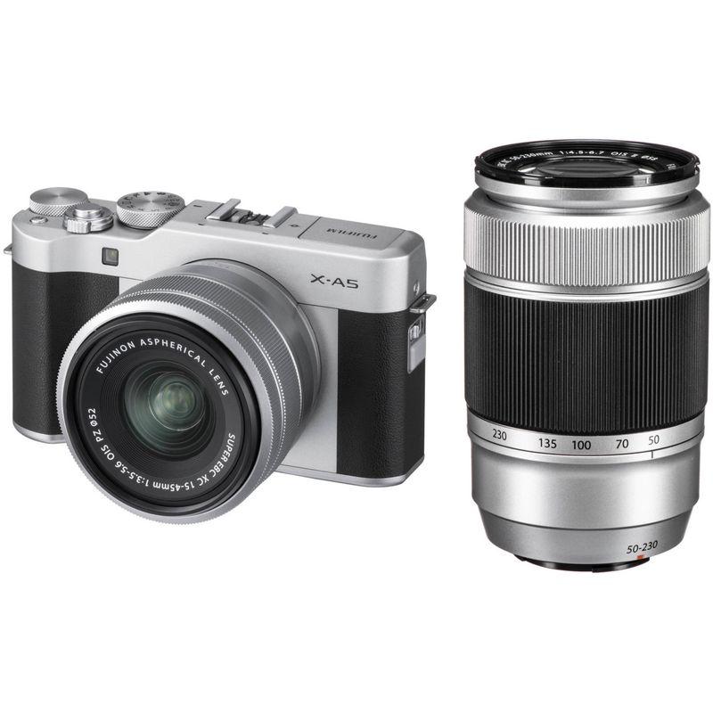 Fujifilm-X-A5-kit-dublu-zoom-XF15-45mm---50-230mm-argintiu