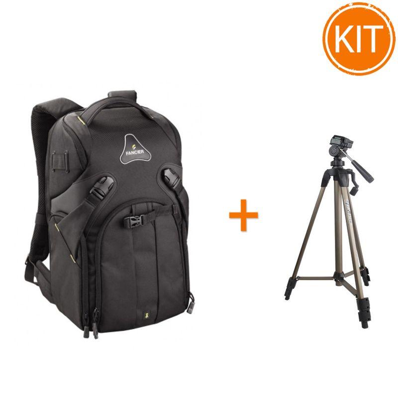 Kit-Fancier-Kingkong-I-40-WB-9065---Rucsac-Foto---Fancier-WT3710-Trepied-Traveller---husa-Negru