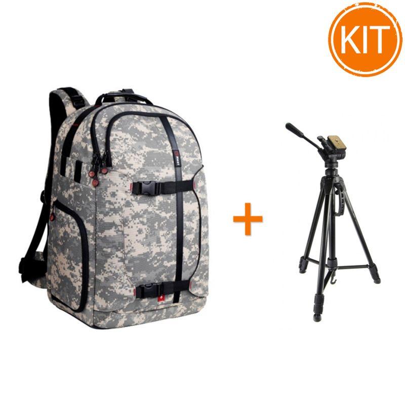 Kit-Fancier-Rucsac-Nest-Hiker-100-Camo---Fancier-WT3716-Trepied-foto-Video
