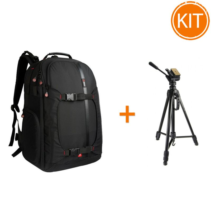 Kit-Fancier-Rucsac-Nest-Hiker-200-Black---Fancier-WT3716-Trepied-foto-Video