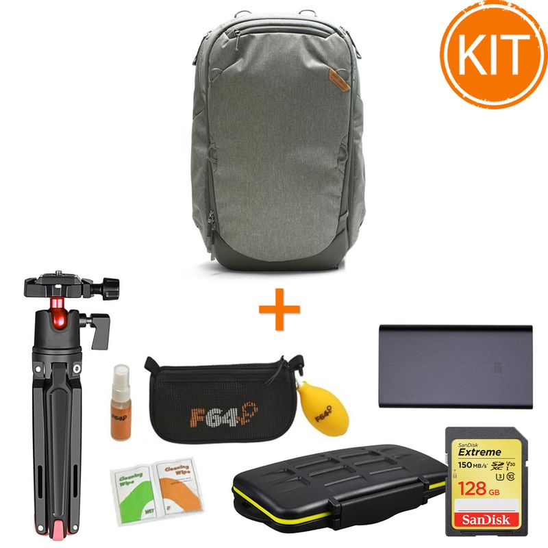 Kit-Rucsac-Peak-Design-Travel-Backpack-45L-Sage-cu-Accesorii-Travel