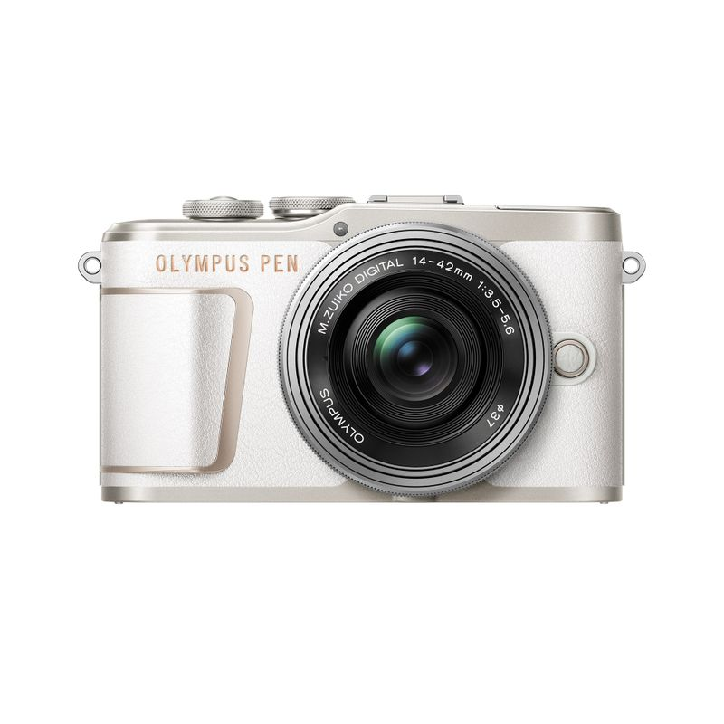 Olympus-E-PL10-Aparat-Foto-Mirrorless-16.1MP-Full-HD-Kit-Obiectiv-14-42mm-Pancake-White