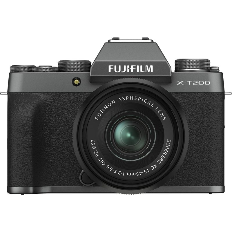 Fujifilm-X-T200-Aparat-Foto-Mirrorless-24.2-MP-Kit-cu-Obiectiv-15-45mm-Dark-Silver