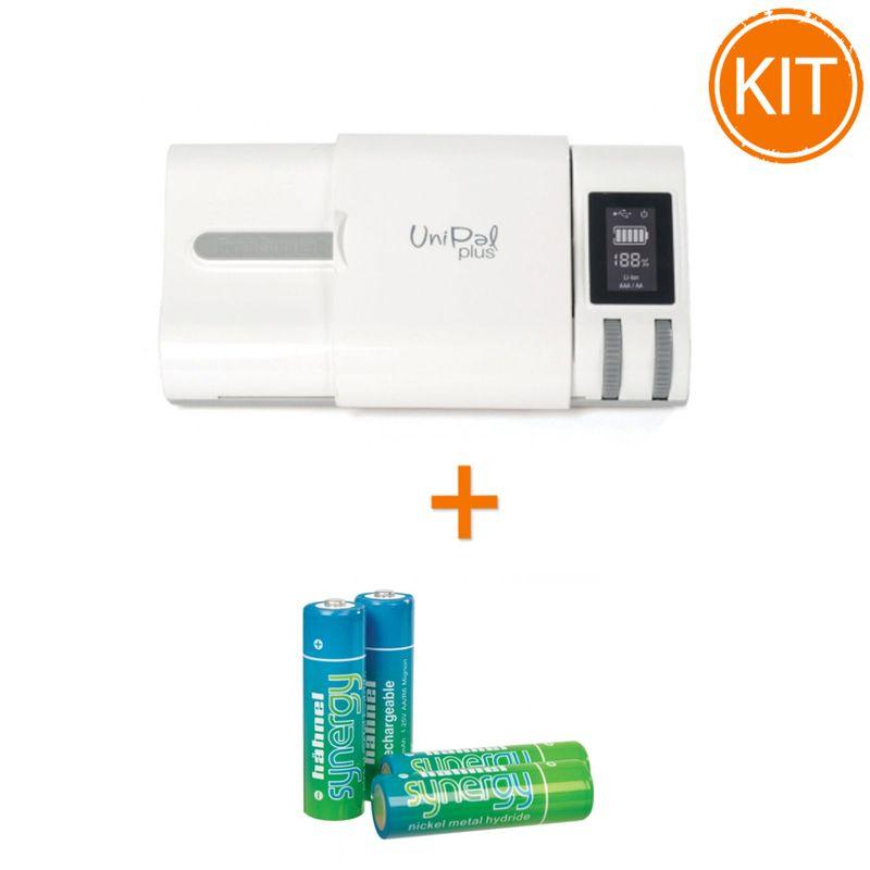 Kit-Hahnel-Unipal-Plus-incarcator-universal---Synergy-set-4-acumulatori-R6-2500mAh