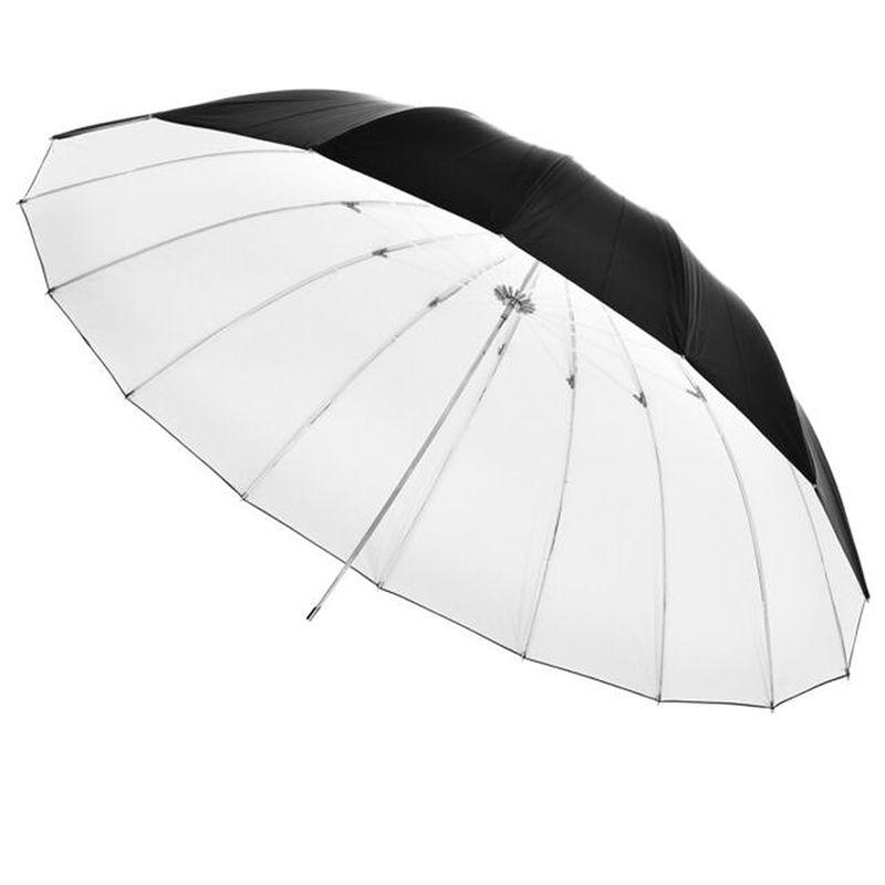 Fancier-Umbrela-Reflexie-Alb-Mat-180cm