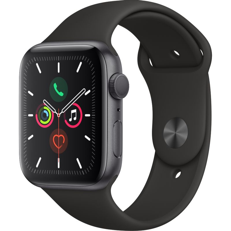 Apple-Watch-Series-5-Smartwatch-GPS-44mm-Space-Grey-Aluminium-Case-Black-Sport-Band