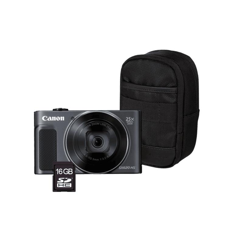 Canon-PowerShot-SX620-HS---Card-de-memorie-16-GB---Husa-Negru