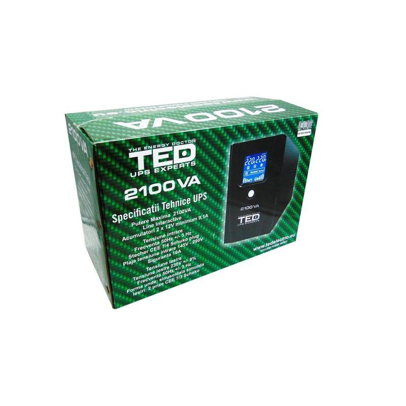 TED-UPS-Expert-2100VA-Line-Interactive-cu-2-Iesiri-Schuko-si-Display-LCD-