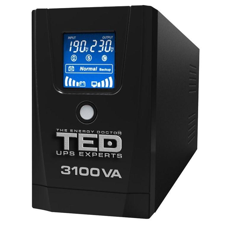 TED-Electric-UPS--3100VA---1800W-Line-Interactive-cu-3-Iesiri-Schuko-si-Display-LCD