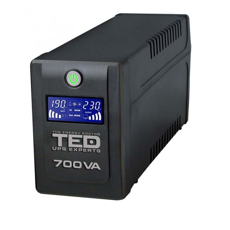 TED-Electric-UPS-700VA---400W-Line-Interactive-cu-2-Iesiri-Schuko-si-Display-LCD-