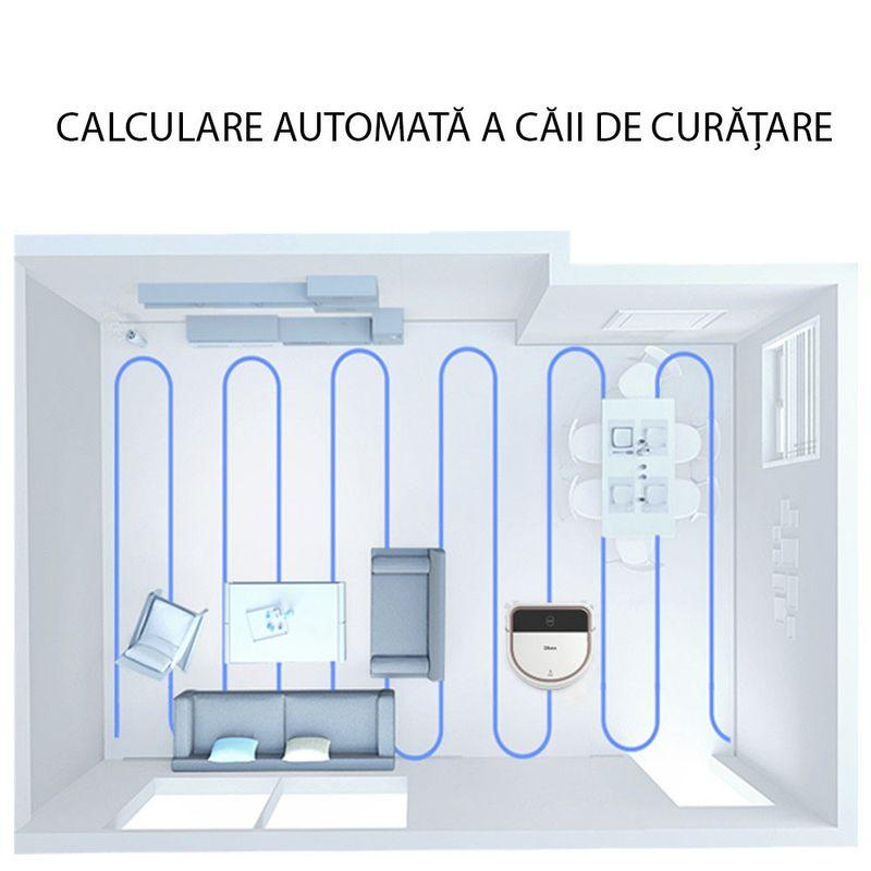 Dibea-D500-Aspirator-Robot-Programare--Aplicatie-Mobila-Calculare-Cale--WI-FI.4