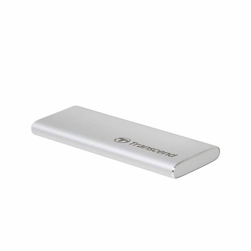 Transcend-480GB-SSD-Extern-ESD240C-USB-3.1-Gen-2-Type-C-520-MBs-Silver