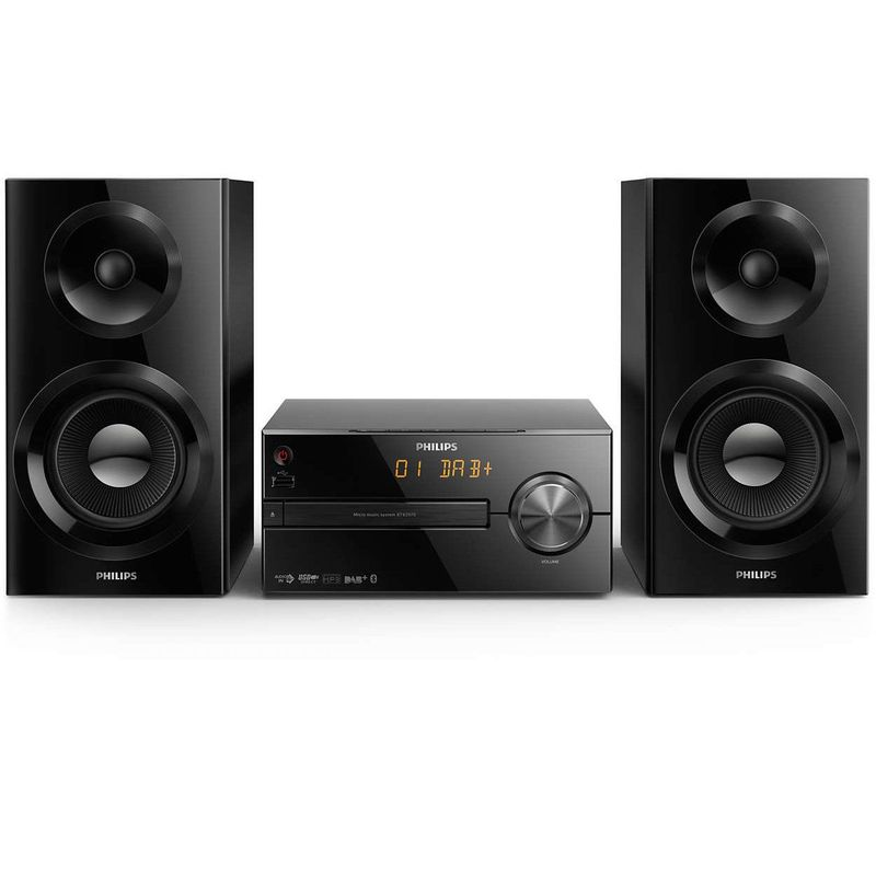 Philips-BTB2570-12-Sistem-Audio-70W-CD-MP3-USB-FM-DAB--AUX-Bluetooth-Negru