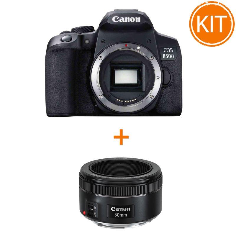 Kit-Canon-EOS-850D-Body---Bonus-Obiectiv-Foto-Canon-EF-50mm-F1.8-STM