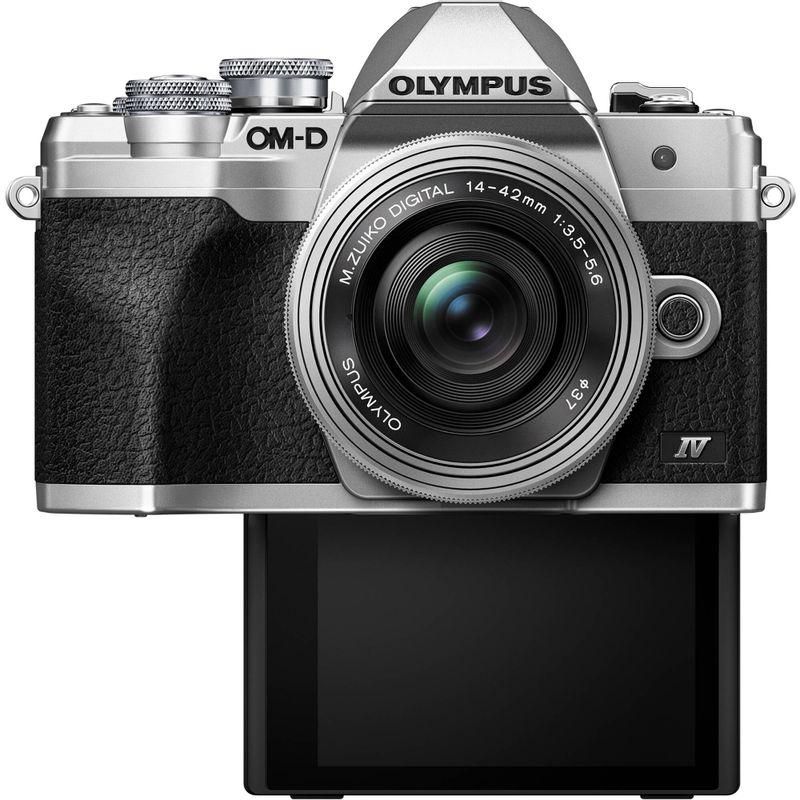 Olympus-OM-D-E-M10-Mark-IV-Kit-cu-Obiectiv-14-42mm-Silver