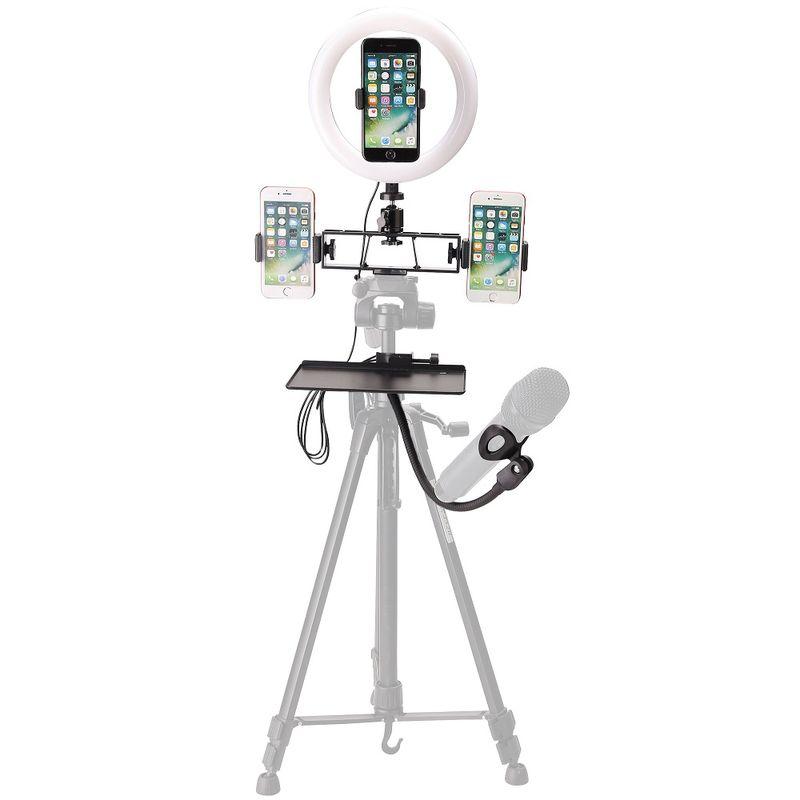 Fancier-8--LED-Light-Kit-cu-Suport-Lampa-Suport-Smartphone-si-Brat-pentru-Microfon