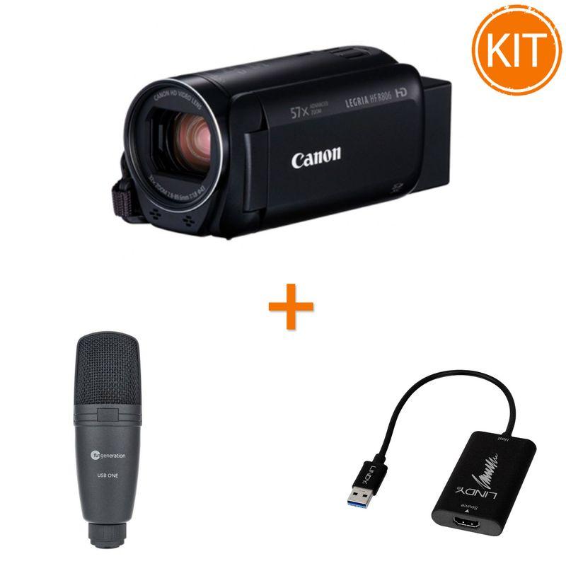 Kit-Live-Entry-cu-Canon-HF-R806---Placa-de-Captura---Microfon