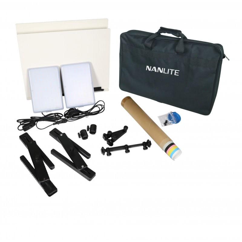 Nanlite-Compac-20-Kit-2-Lampi-LED-Slim-Soft-Light-pentru-Studio-2