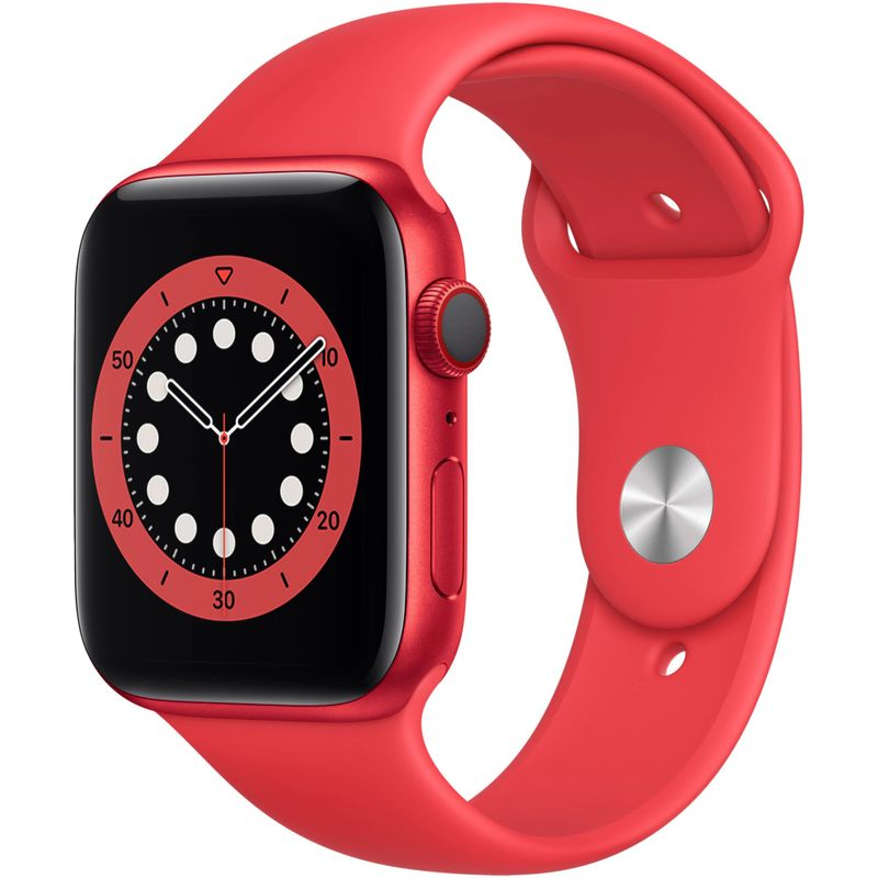 Apple-Watch-S6-GPS---Cellular-44mm-Red-Aluminium-Case-Red-Sport-Band