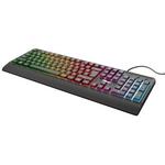Trust Ziva Tastatura Gaming Rainbow LED USB Negru