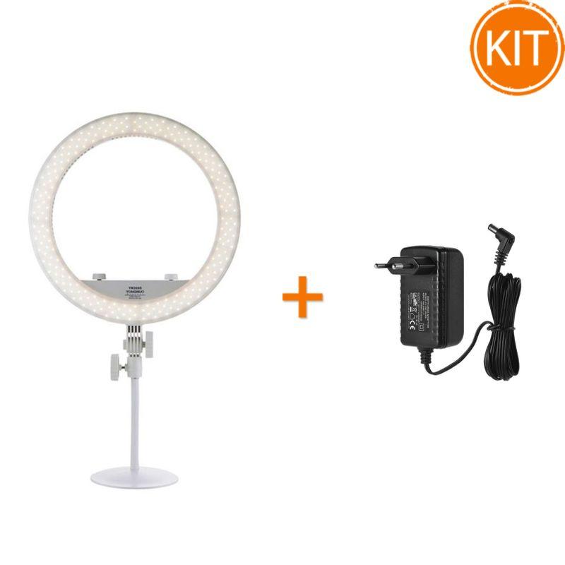 Kit-Lampa-LED-Circulara-Yongnuo-YN208S-Lampa-Circulara-3200-5500K---Alimentator