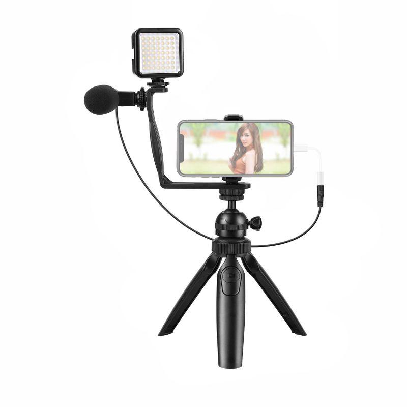 Fancier-Vlogging-Studio-Kit-6-in-1-cu-Minitrepied-si-Accesorii