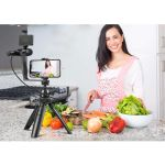 Fancier-Vlogging-Studio-Kit-6-in-1-cu-Minitrepied---Microfon---Lampa-Video---Telecomanda