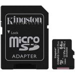 Kingston Canvas Select Plus Card MicroSD 64GB Class 10 A1 cu Adaptor