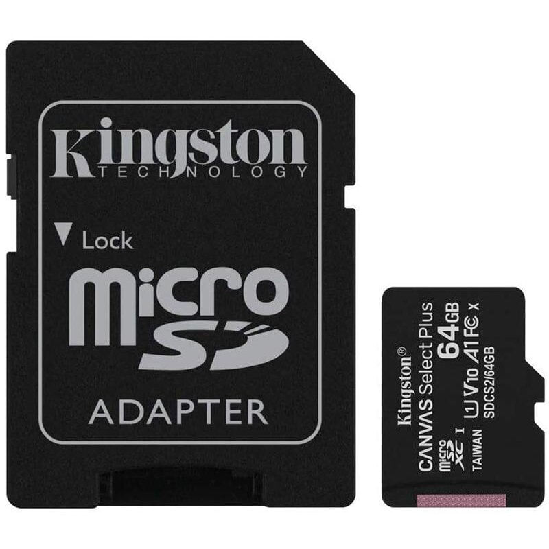 Kingston-Canvas-Select-Plus-Card-MicroSD-64GB-Class-10-A1